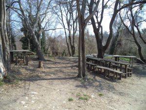 """Екопътека парк """"Златни пясъци"""" - изградено място за пикник, почивка и игра в гората под Аладжа манастир"""