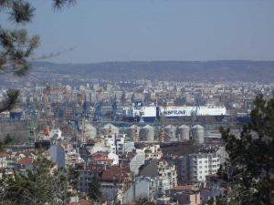 Маршрут Аспарухово - Боровец - изглед към Варна от гората над Аспарухово