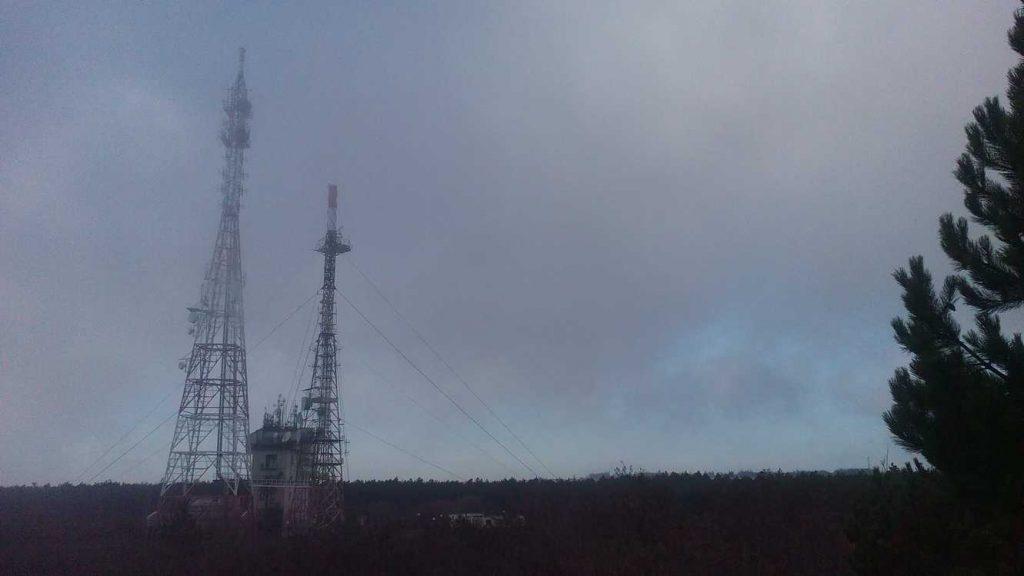 Франгенско плато - изглед към ТВ кула Варна в мъгла