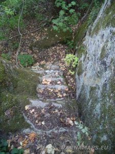 Местност Тъпаните - скални стълби