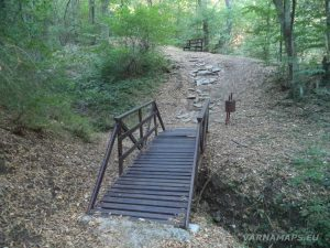 """Екопътека """"Калето"""" - дървен мост по пътеката за """"Изворът на самодивата"""""""