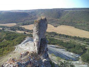 """""""Пробитият камък"""" погледнат отгоре"""