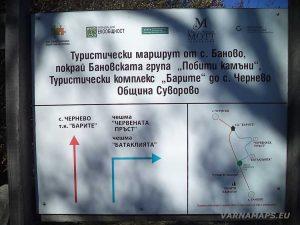 """Екопътека """"Батаклията"""" - указателна табела за с. Чернево и с. Баново"""