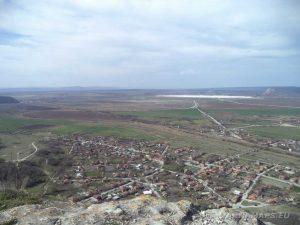 """Крепост """"Петрич кале"""" - панорамен изглед към равнината"""