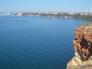 Нос Калиакра - панорамен изглед към гр. Каварна