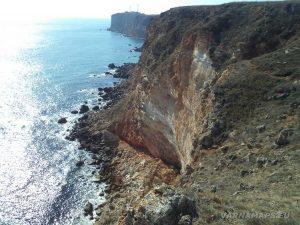 Изглед към нос Калиакра по маршрута към залив Болата