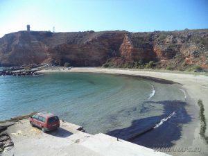 Плажът в залив Болата - изглед отгоре