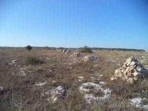 """Резерват """"Яйлата"""" - редицата от каменни пирамиди, очертаваща границата на резервата"""