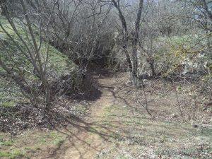 Петрич кале - пътеката за слизане от платото край местност Бобата