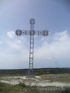 Крепост Овеч - металния кръст на платото