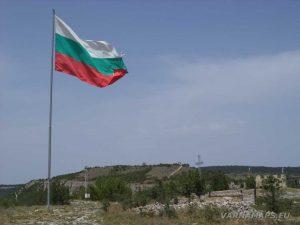 Крепост Овеч - българския флаг