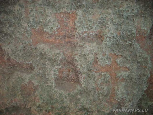 Резерват Яйлата - скална църква - стенопис