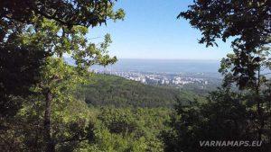 Красива панорама от гората над Владиславово