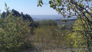 Панорамна гледка от гората над Аксаково