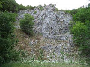 """Екопътека """"Веселиново"""" - скална канара по маршрута при мястото за паркиране"""