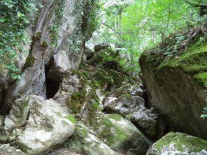 """Екопътека """"Веселиново"""" - скалните образувания край пещера Сарая"""