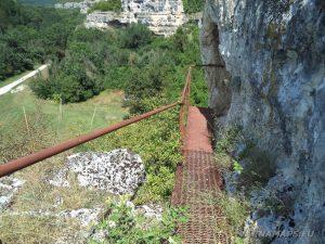 """Скално светилище """"Баджалията"""" - скалната пътека към храма"""